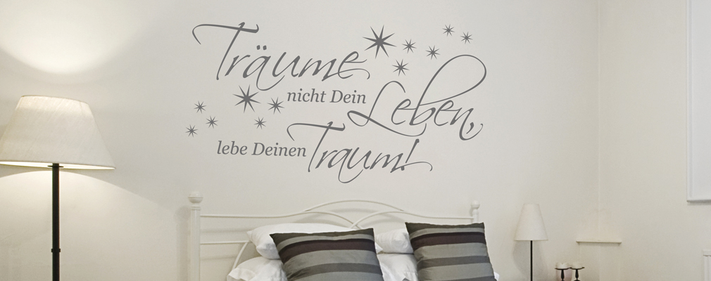 wandtattoo spr che und zitate. Black Bedroom Furniture Sets. Home Design Ideas