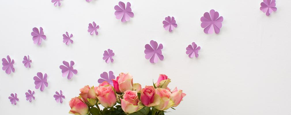3D Blumen Wandtattoo