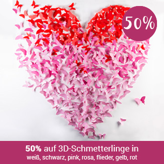 50% auf 3D Schmetterlinge