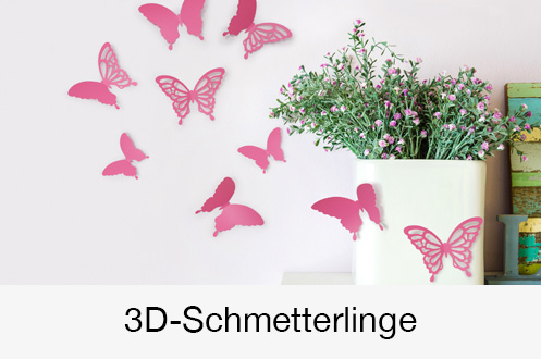 3D-Schmetterlinge