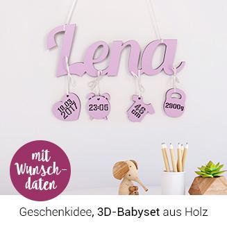 3D-Babyset aus Holz