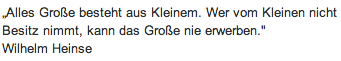 "Wandtattoo Zitat ""Alles Große besteht"""