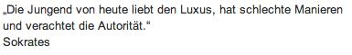 """Wandtattoo Zitat """"Die Jugend von heute"""""""