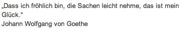 Wandtattoo-Zitat - Johann Wolfgang von Goethe