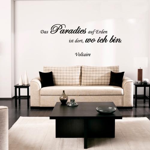 Wandtattoo-Zitate - Das Paradies