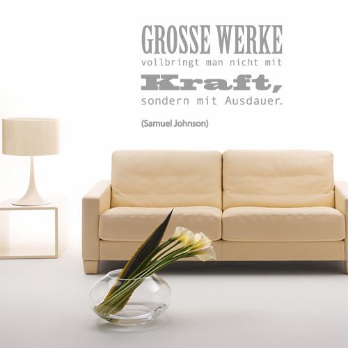 Wandtattoo-Zitat - Grosse Werke