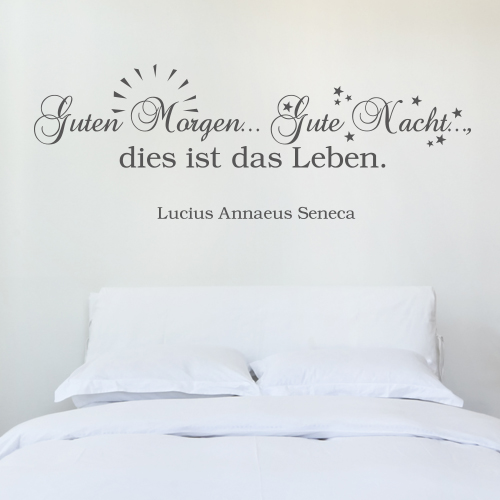 Wandtattoo-Zitat - Guten Morgen
