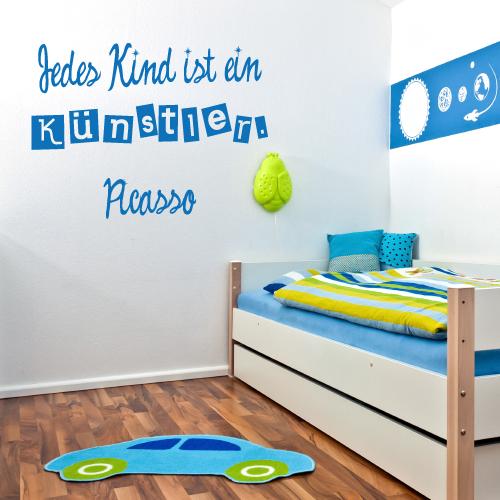 Wandtattoo-Zitat - Jedes Kind ist ein Künstler