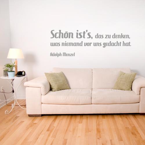 Wandtattoo-Zitat - Schön ist´s