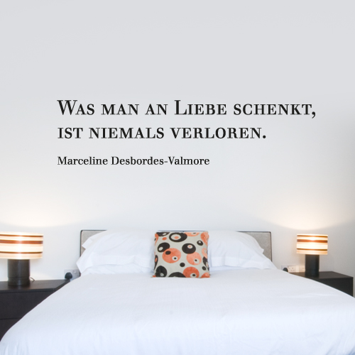zitate als wandtattoo. Black Bedroom Furniture Sets. Home Design Ideas