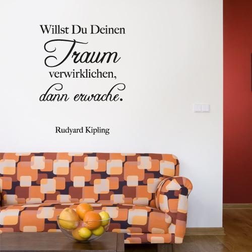 Wandtattoo-Zitat - Willst du deinen Traum