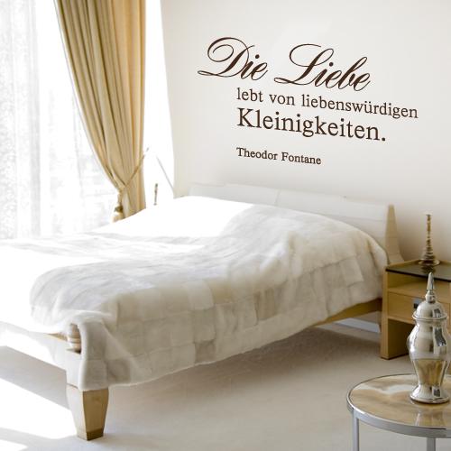 Wandtattoo-Zitat - Die Liebe lebt