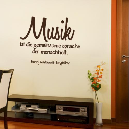 Wandtattoo-Zitat - Musik ist die gemeinsame Sprache