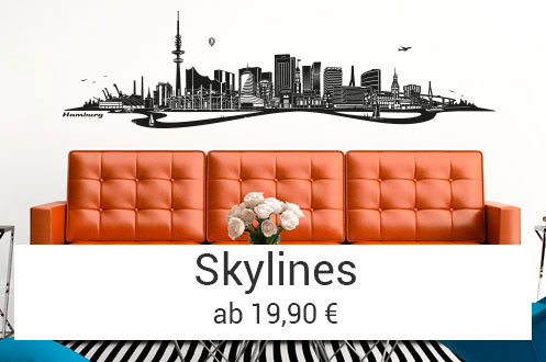 Wandtattoo Skyline