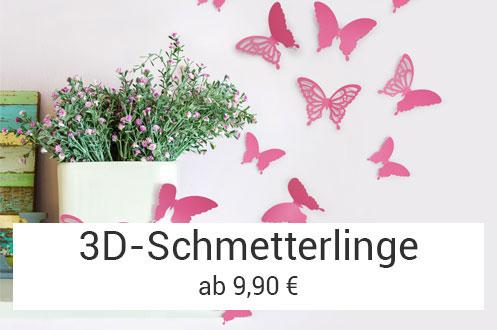 3D-Schmetterlinge